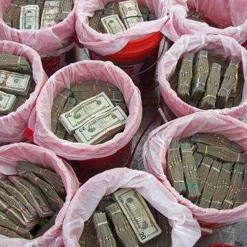 Parte del dinero robado