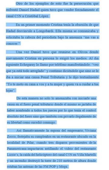 Persecución al empresario Daniel Haddad.