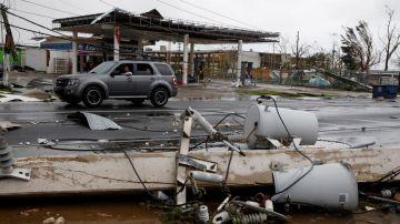 El Huracán María en Puerto Rico. Foto AFP / Héctor Retamal