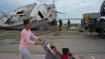 El Huracán María en Puerto Rico. Foto AFP Helene Valenzuela
