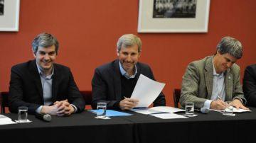 Marcos Peña, Rogelio Frigerio y Alfonso Prat-Gay