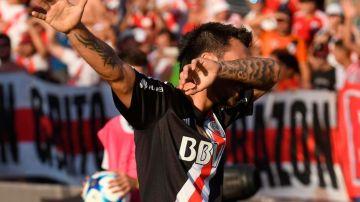 Nacho Scocco, autor del primer gol