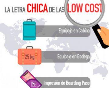 Letra chica y datos importantes para los vuelos Low Cost.