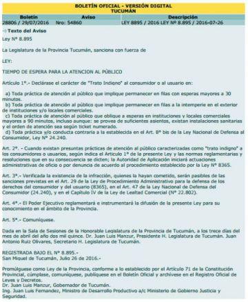 Boletín oficial  - versión digital