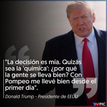 Trump justificando su decisión.