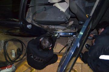 El conductor, de procedencia brasileña, logró escapar.