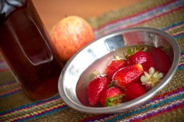 Limpiador casero de vegetales y frutas con vinagre blanco