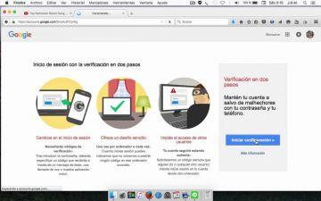 Protega su cuenta con la verificación de dos pasos de Google