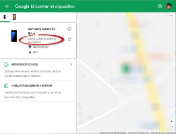Active la opción 'Encontrar mi dispositivo'